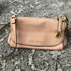 Light pink Leather Crossbody Bag MARC JACOBS
